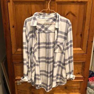 Rails light blue plaid shirt